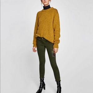 Zara olive green jeans